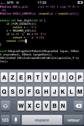 Vim on iOS