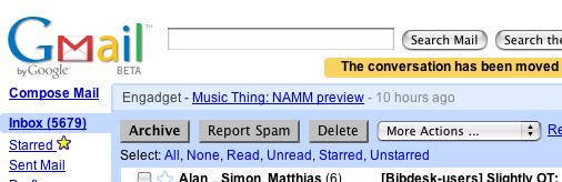 """GMail's new """"Delete"""" button"""