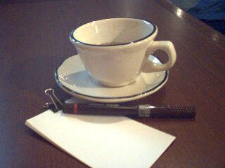 Coffee and new pen